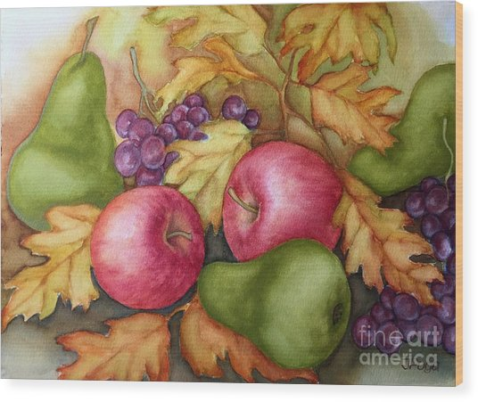 Autumn Fruit Still Life Wood Print