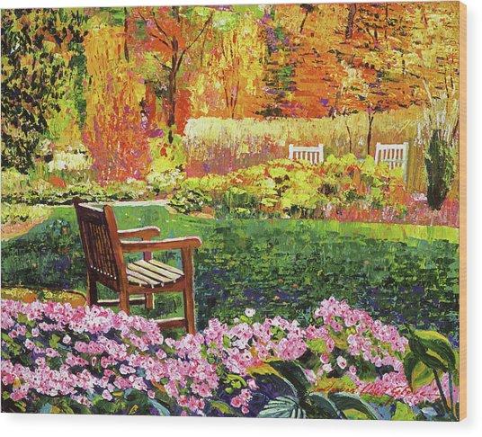 Autumn Garden Setting Wood Print