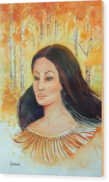 Autumn Goddess Wood Print