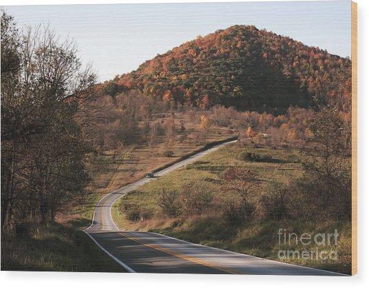 Autumn Hill Near Hancock Maryland Wood Print