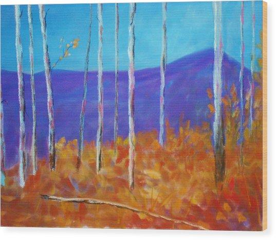 Autumn In Cloudcroft Wood Print
