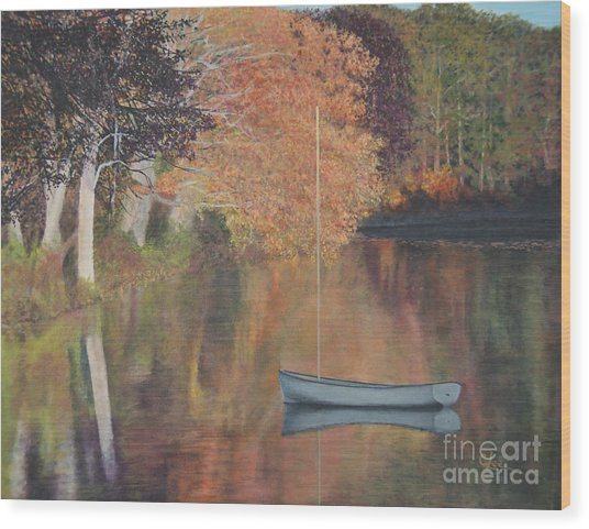 Autumn In Hamburg Cove Wood Print