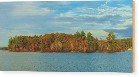 Autumn In Maine Wood Print