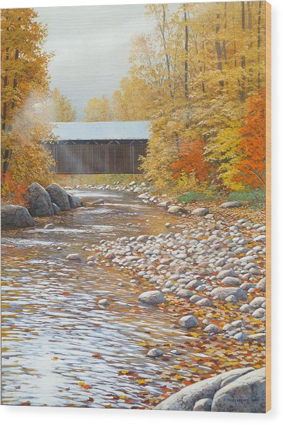Autumn In New England Wood Print by Jake Vandenbrink
