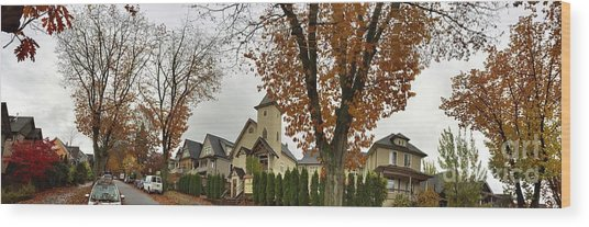 Autumn In The City 11 Wood Print