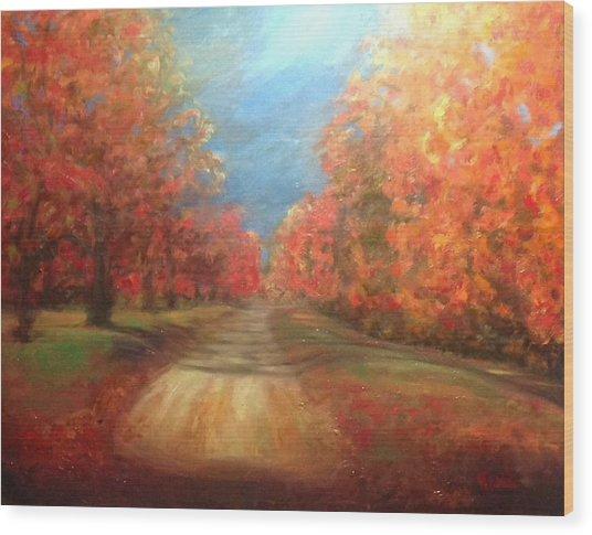 Autumn Dream Wood Print