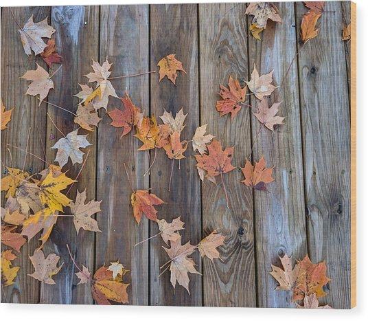 Autumn Leaves Fall Wood Print