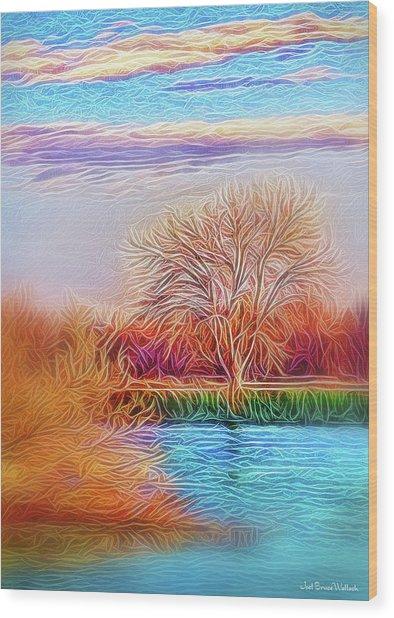 Autumn Light Realization Wood Print