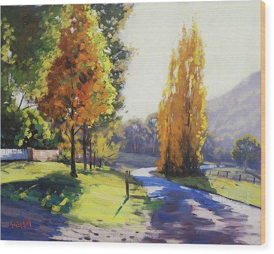 Autumn Light Tarana Wood Print