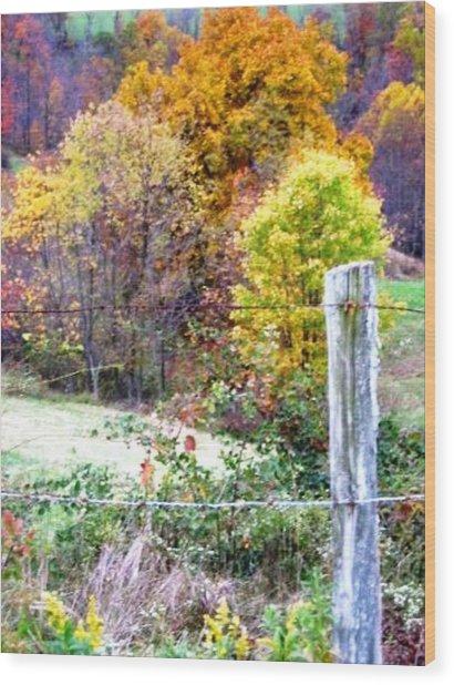 Autumn Wood Print by Linda Henriksen