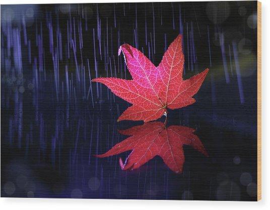Autumn Message Wood Print