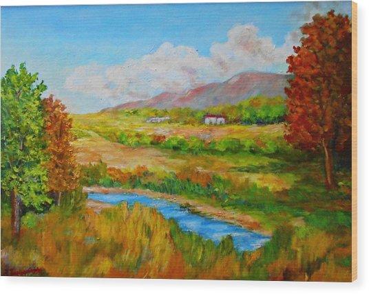 Autumn Nature Wood Print