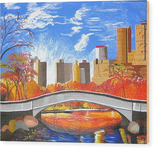 Autumn Oasis Wood Print
