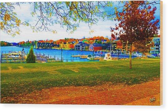 Autumn On Lake Charlevoix Wood Print