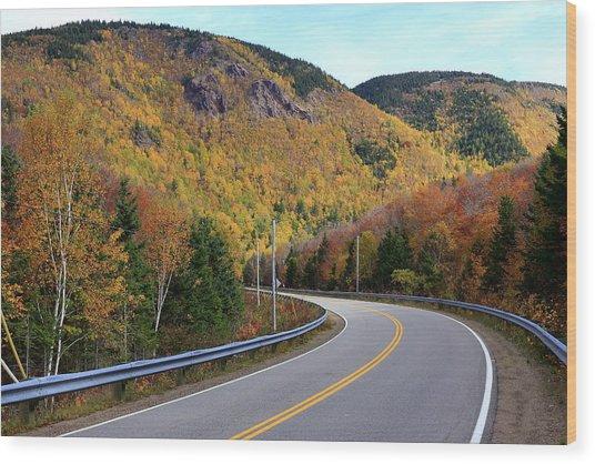 Autumn On The Cabot Trail, Cape Breton, Canada Wood Print
