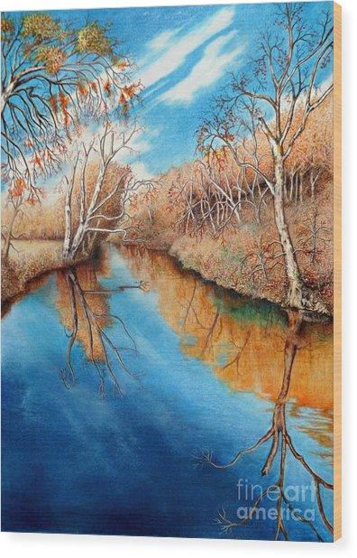 Autumn On The Elkhorn Wood Print