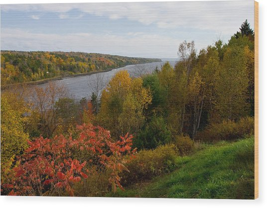 Autumn On The Penobscot Wood Print