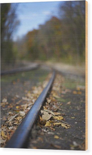Autumn On The Rails Wood Print by Matt Veldey
