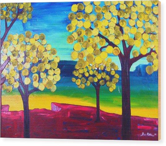 Autumn On The Ridge Wood Print by Ben Potter