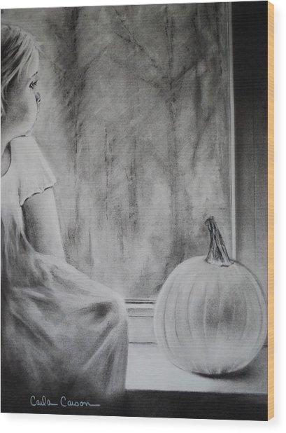 Autumn Rain Wood Print