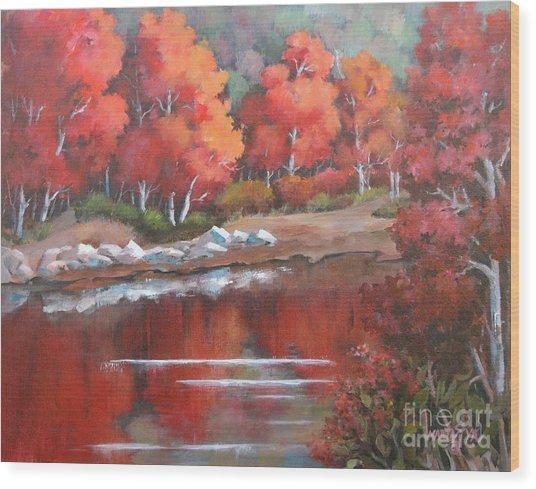 Autumn Reflexions 2 Wood Print