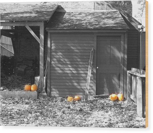 Autumn Rest Wood Print