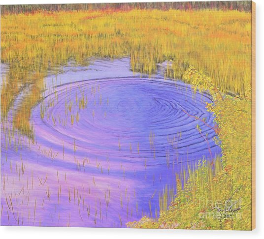 Autumn Ripples Wood Print