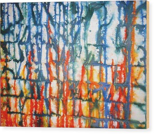 Autumn Sea Wood Print by Baljit Chadha