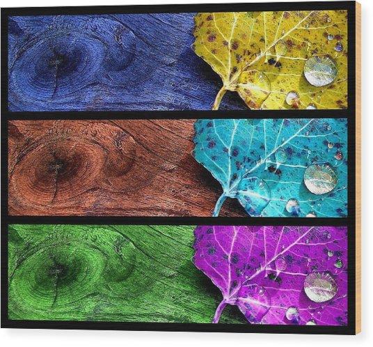 Autumn Spirits Wood Print by Bianca Van Heumen