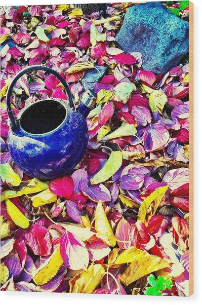 Autumn Tea Wood Print