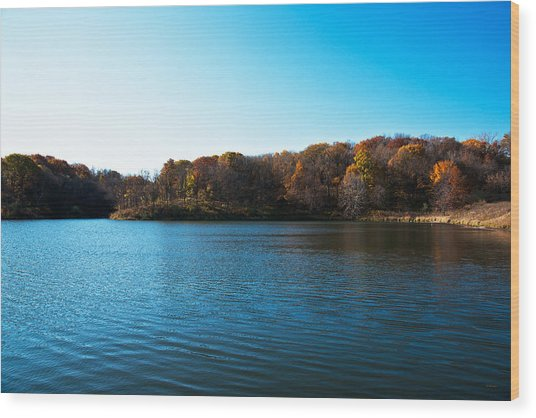 Autumn The In Loess Hills Wood Print