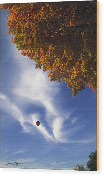 Autumn Traveler - Lake Geneva Wisconsin Wood Print