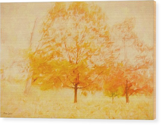 Autumn Trees Abstract Wood Print