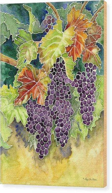 Autumn Vineyard In Its Glory - Batik Style Wood Print