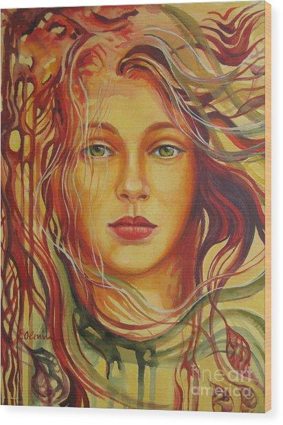 Autumn Wind 2 Wood Print