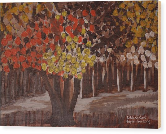 Autumn Woodland 2 Wood Print by Eckland Cort