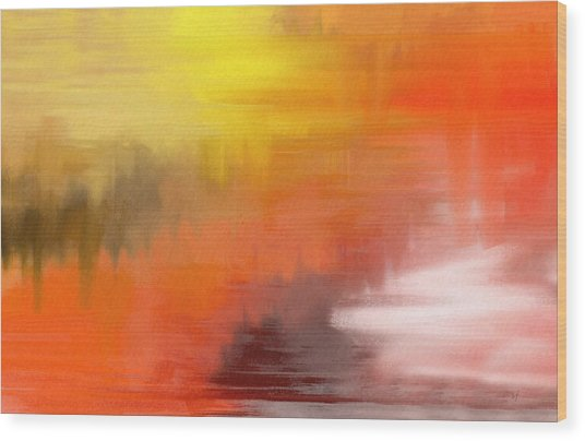 Wood Print featuring the digital art Autumnal Abstract  by Shelli Fitzpatrick