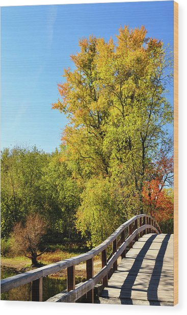 Autumnal North Bridge Wood Print