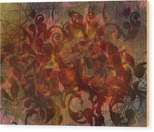 Autumnal Waning Wood Print