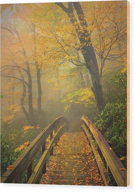 Autumn's Bridge To Heaven Wood Print