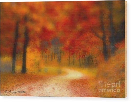 Autumn's Promise Wood Print