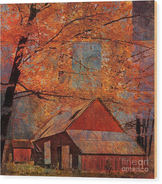 Autumn's Slate 2015 Wood Print