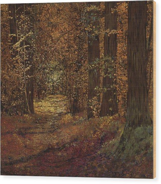 Autunno Nei Boschi Wood Print