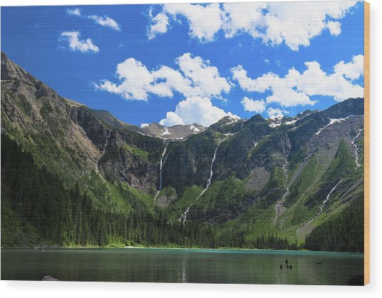 Avalanche Lake Wood Print