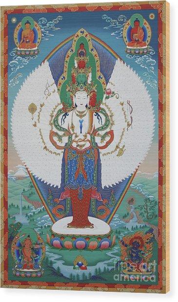 Avalokiteshvara Lord Of Compassion Wood Print