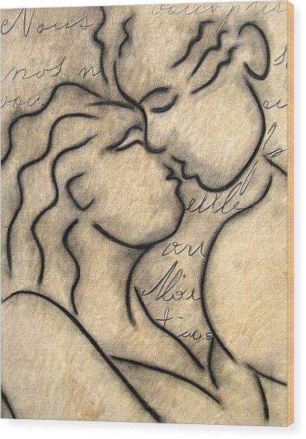 Avec Amour Wood Print