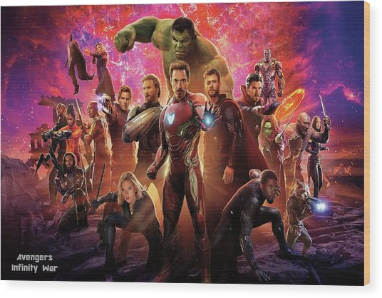 Avengers Infinity War Wood Print