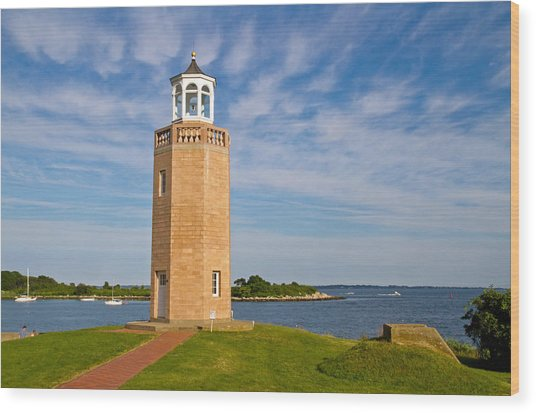Avery Point Lighthouse Wood Print
