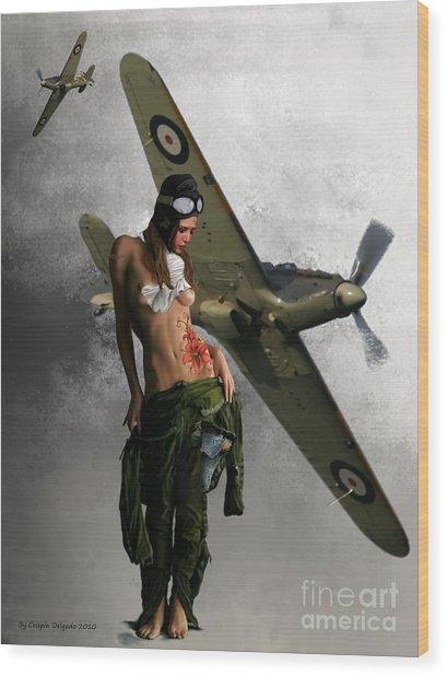 Aviator Wood Print by Crispin  Delgado