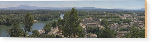 Avignon On The Rhone Wood Print by Gary Lobdell